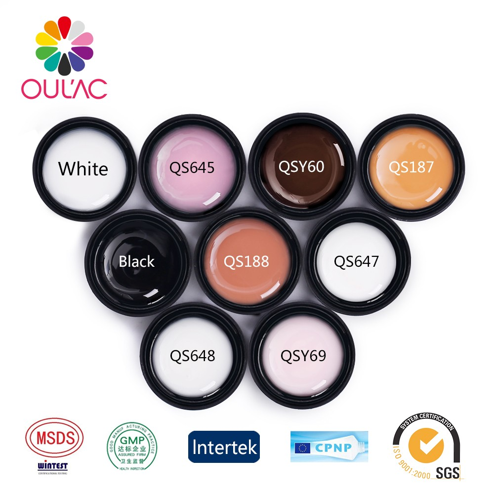 OULAC 2017 Good Reputation gel polish manufacturers supply fashion design uv led builder gel oem in nail polish