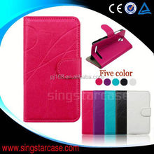 Simple stripe style leather phone case for Fly Ego Art 2 IQ455