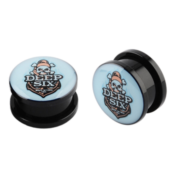 Fashion body jewelry piercing acrylic ear plugs tunnel with custom logo