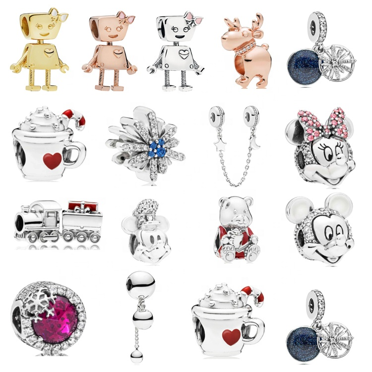 fashion new style custom Christmas 925 sterling silver jewelry charm fit for pandora