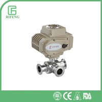 Quick-Install T -Type Sanitary Stainless Steel Electric Three Way Ball Valve