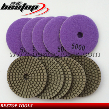 100mm engineered stone/granite flexible Polishing Pads