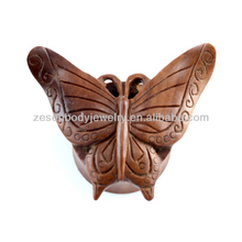 Wholesale butterfly wood ear expander, ear plug piercing body jewelry