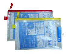 Low Price A4 A5 size Soft Plastic PVC Mesh File Bags With Top Zipper