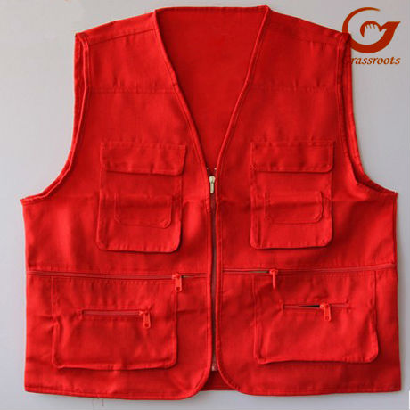 colorful hot sale low price promotion uniforms,vest for advertising