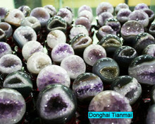Wholesale Small Amethyst Geode Ball for Sale / Amethyst Open Smile Geode for Gifts