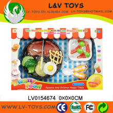 LV0154674 Cutting Beef steak vagetables kitchen play toy set