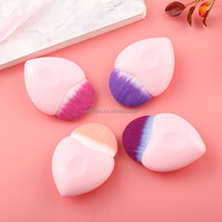 New arrival single makeup brush mermaid makeup brush set cosmetics heart blush brushes