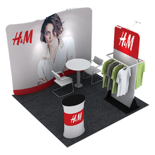 Indoor and outdoor display Tension fabric exhibition wall for promotion events