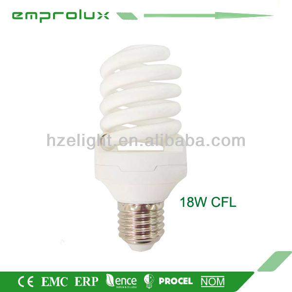 Half Spiral Energy Saving Bulb Light Ceiling Lighting CFLT2 15W Lamp