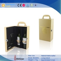 Winepackage luxury liquor bottle gift case,hot stamping leather wine box