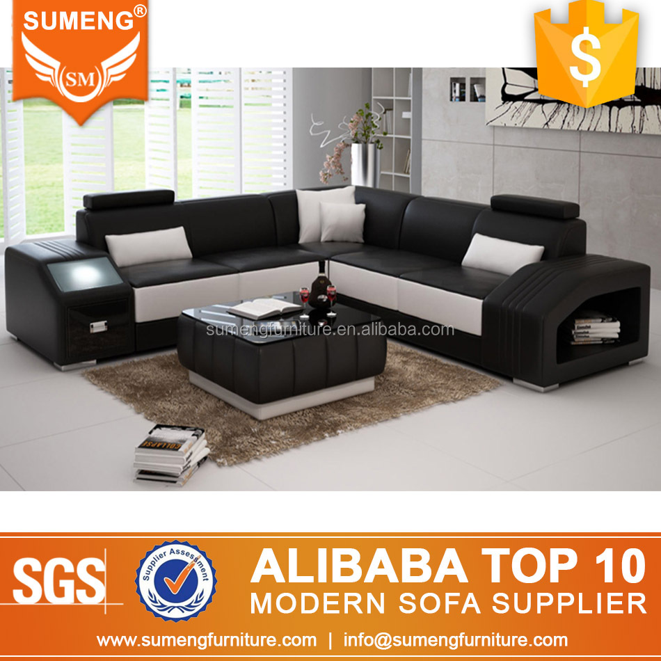 SUMENG export high quality corner sofa cum bed with storage