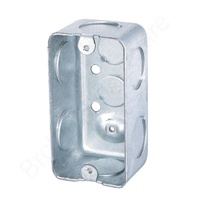 "American Standard 58361P Series 4""*2"" Galvanized Steel Metal switch Box with earth grounding"