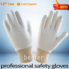 High quality Bleached cotton cuff gloves Workplace <strong>safety</strong> gloves