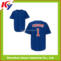 OEM Custom Sublimation Blue Jays Team Baseball Jersey Uniform