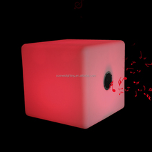 Portable Mobile Phone Audio Player Multi Colors Music Wireless LED Light Cube Speaker