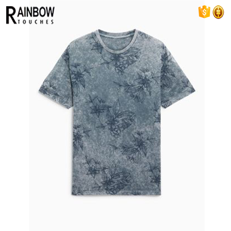 Wholesale online shop vintage styles acid wash t shirts for men
