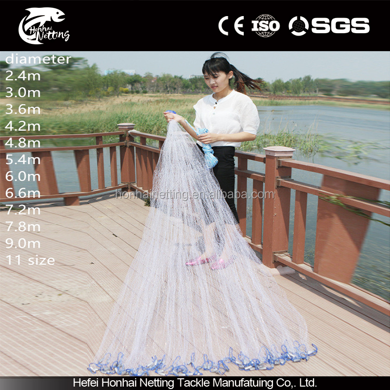 High quality household leisure fishing hand cast fishing net factory direct