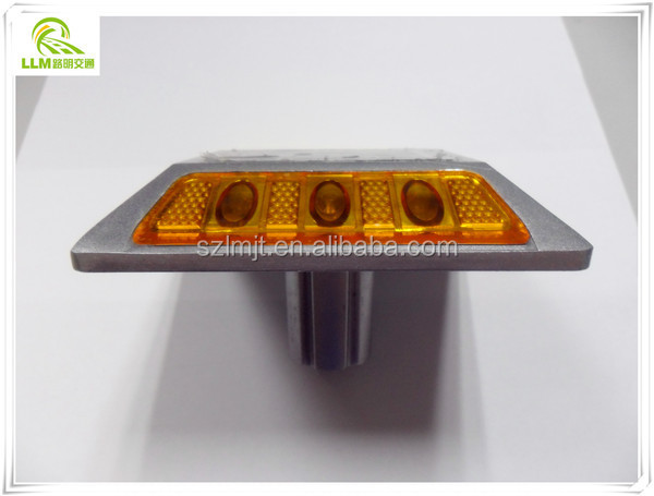 Wholesale high strength aluminum double-sided LED road reflector solar road stud