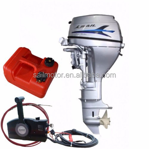 SAIL 4 Stroke 15HP Outboard motor, E-start and remote control .