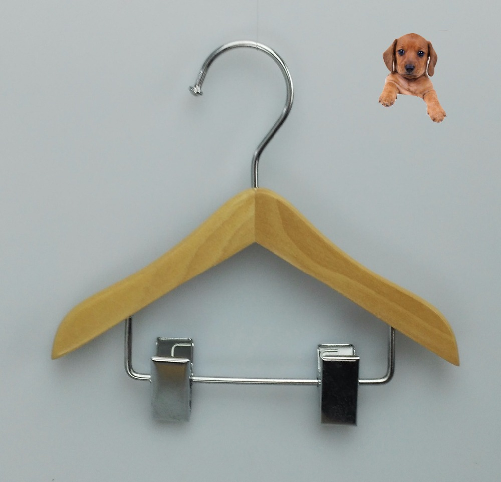 pet clothes hanger Teddy's hanger small cute wooden hanger