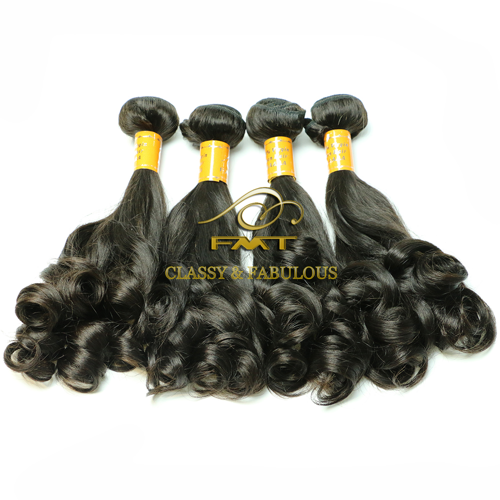 High quality large stock aunty fummy hair 100 brazilian remy human hair