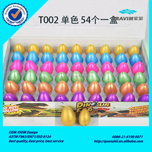Wholesale box packing colorful golden T002 series 2.5*3.5cm rain flower point dinosaur egg toy for wholesale