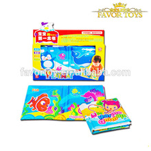 Fashionable washable cheap educational toys baby cloth book