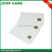 White blank printable PVC java card smart card with model J2A040