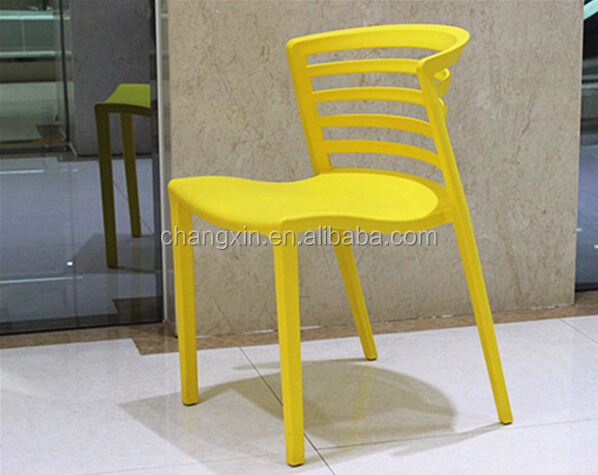 New design Colorful plastic chair , Plastic PP Dining Chair , plastic chair