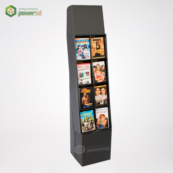 advertising corrugated cardboard greeting card dvd cd replication cardboard display stand