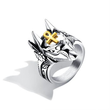 Men fashion 316L Stainless Steel Jewelry Wolf Head Rings For Demon claw