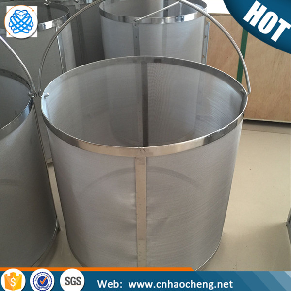 Stainless steel wire mesh beer brewing filter basket for beer brewing equipment 30L mash filter