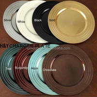 Wholesale Colored Plastic Charger Plate For Wedding And Party Decoration
