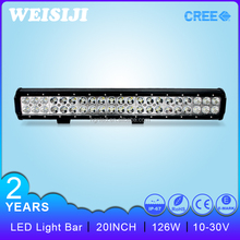 Excellent quality!!126w 20 inch 2 row crees led light bar for offroad