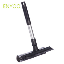 2 in 1 auto car cleaning sponge window squeegee with extendable handle