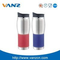Promotional BPA free double wall stainless steel m&m coffee mug