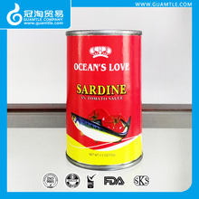155g Canned Sardine in oil in tins for Mauritius market Easy open lid