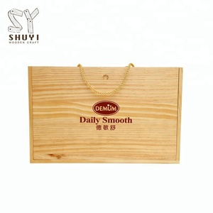 Custom Luxury Gift Packaging Wooden Red Wine Box