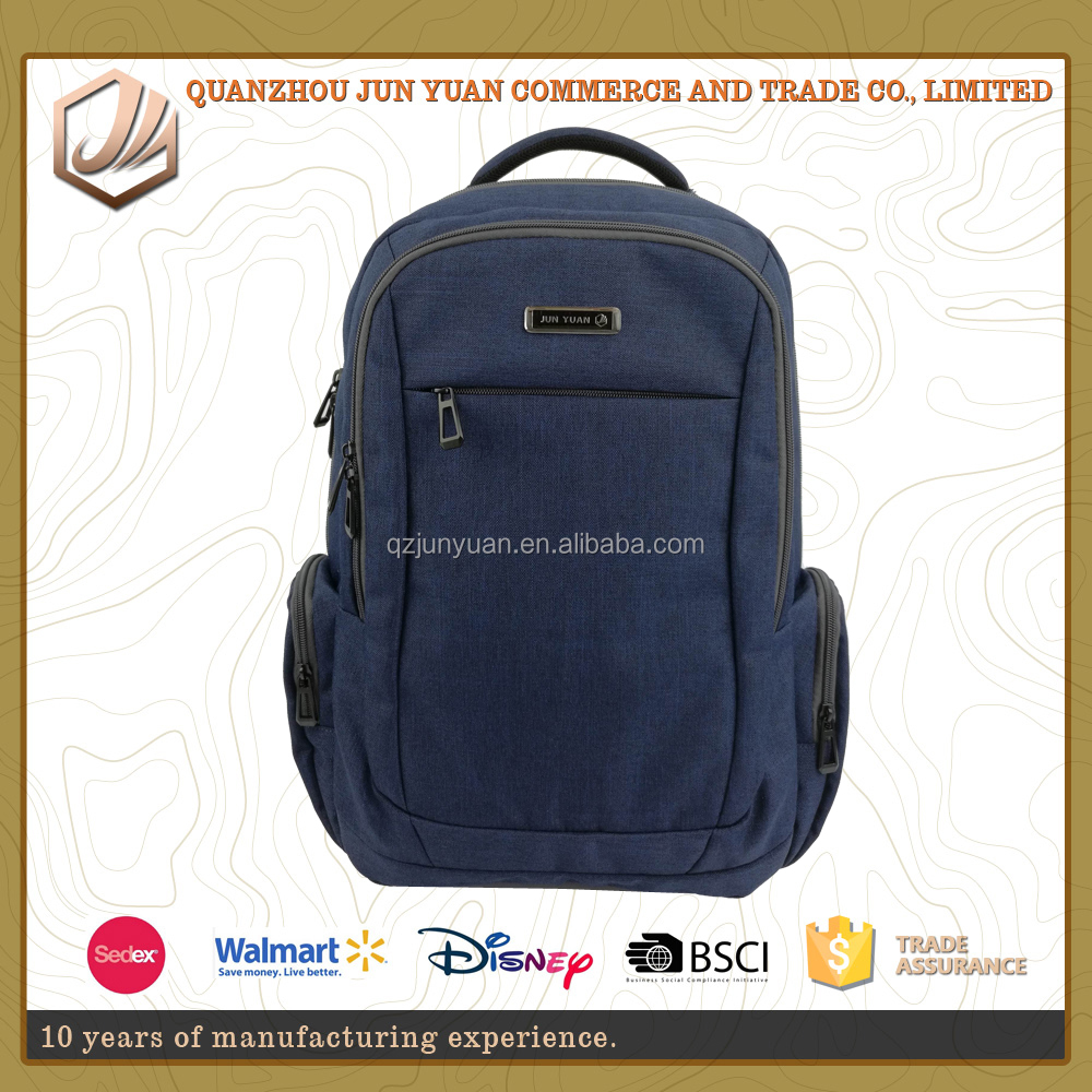 2016 hot sale waterproof business fabric for computer backpack with large capacity laptop bags
