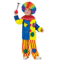 A Kids new design clown role-play costume for Halloween carnival