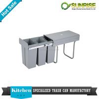 handmade plastic large gray kitchen waste bin