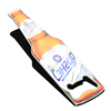 Beer Bottle Shaped Promotional Custom Rubber Fridge Magnet Stainless Steel Metal Bottle Opener Bottle Shape