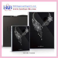 H&B latest acrylic cover black sheets photo album