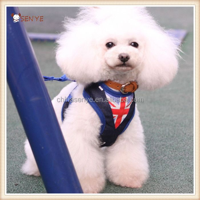 Dog Clothes Pet Harness With Union Jack