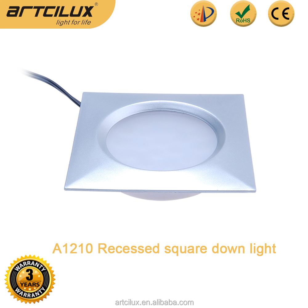 12V square ceiling light for furniture cabinet, mini 12V led recessed light