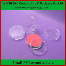 Hot sale PP empty powder puff containers/ empty compact powder container/ plastic powder container