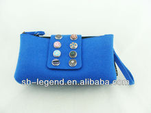 handbag, in blue, measure 20(L)x3(W)x10(H)cm, with 3mm felt material