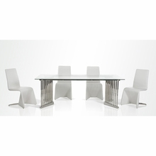 8 seater glass top restaurant dining table with metal legs