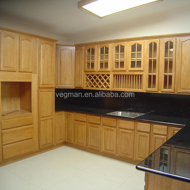China kitchen model unfinished maple cabinets with black granite countertop